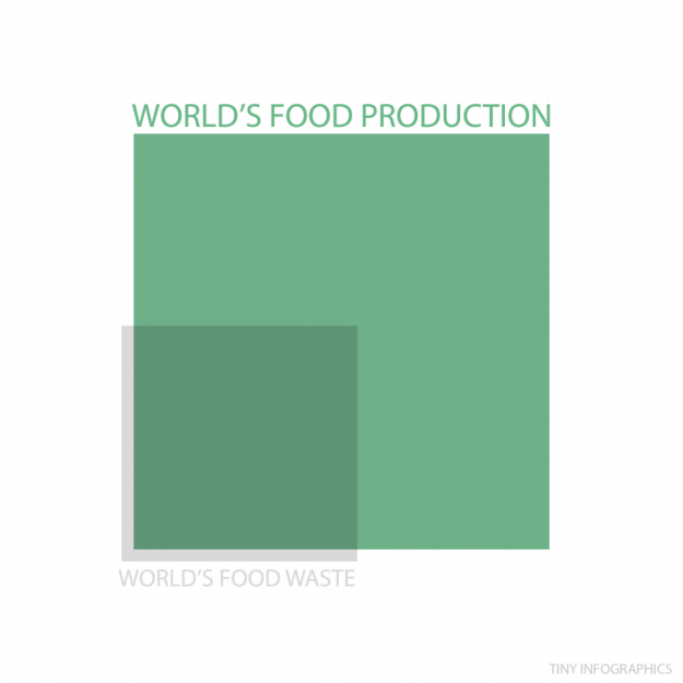 world food production v world food waste