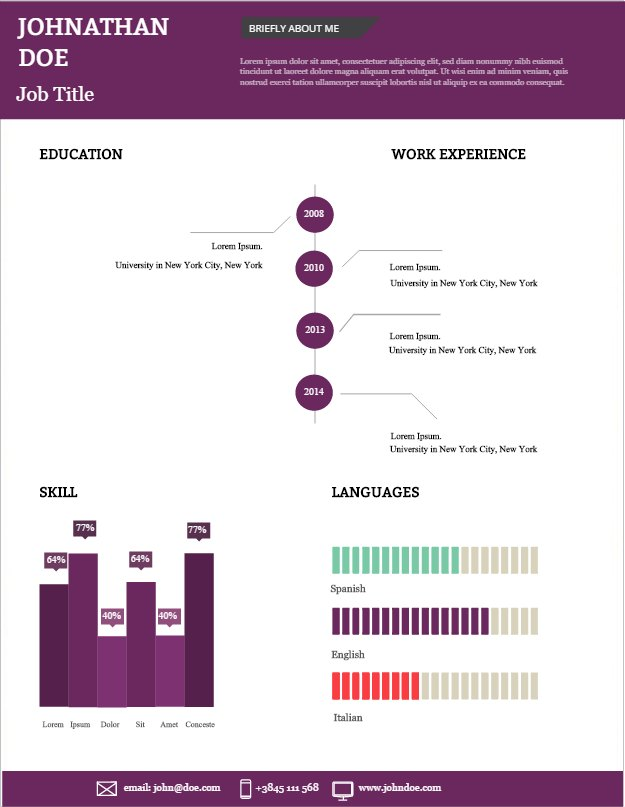 Visual And Vibrant - Your New Cv - Create Amazing Infographics