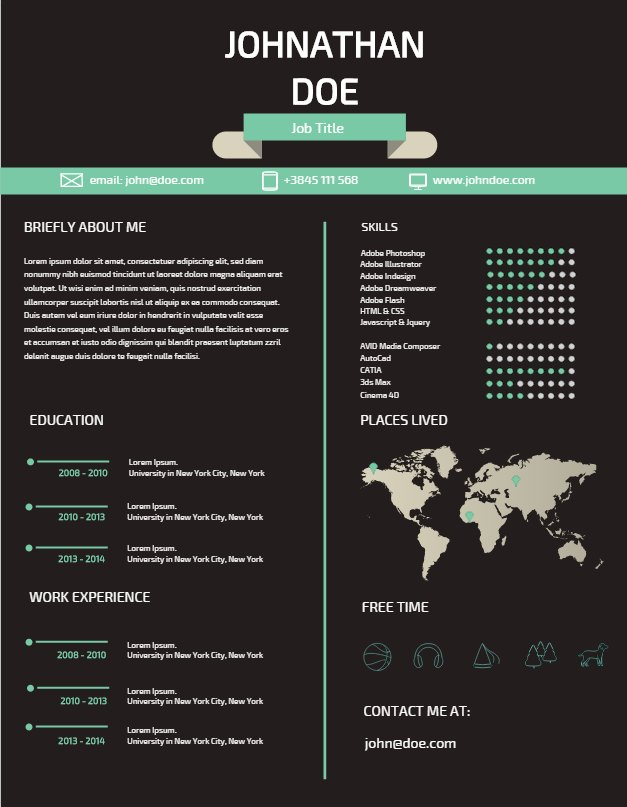 5 steps to an amazing resume create amazing infographics easel ly