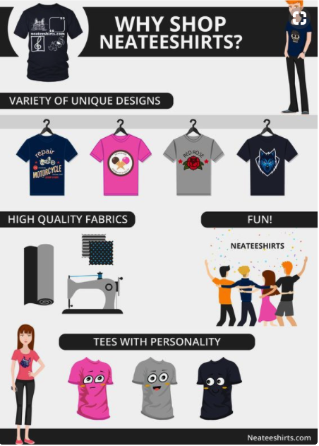 t shirt business infographic